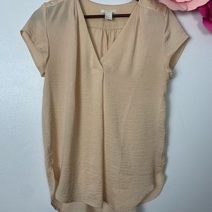 H&M blouse size 4 nude pink